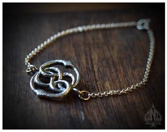 Auryn silver chain bracelet wristband Neverending Story film version inspired