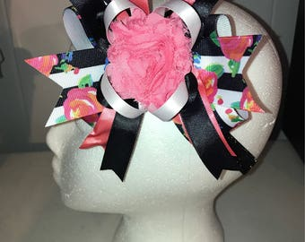 Floral Over The Top Hair Bow