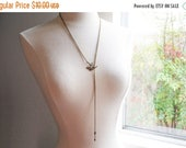 SUMMER SALE Sparrow and Arrow Lariat Necklace