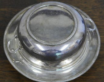 antique silver plate muffin dish bowl tureen