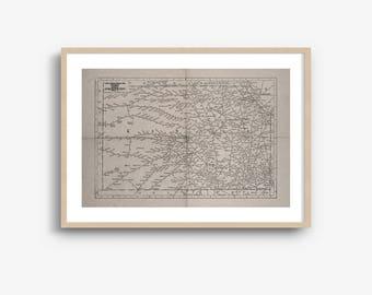 INSTANT DOWNLOAD - Kansas State Map, Kansas Map Download, Kansas Art Print, Kansas Wall Art, High Resolution Download, 8x10, 16x20 Inch