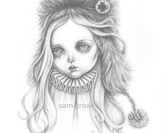Annabella, the costume maker's daughter , a signed A5 Giclée art print .