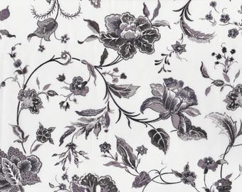 Fat quarter Kirstie E Liberty print, monochrome floral black and white Liberty of London tana lawn