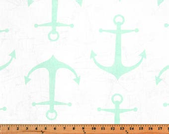 Mint Green Anchors. Throw Pillow Covers. 16x16, 18x18, 20x20 Anchor Cushion Covers. Nautical. Mint Pillow Cover.