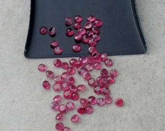 ON SALE Over 1/2 Carat Loose Natural Ruby Round Gems 2mm each