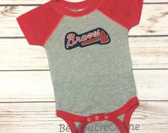 Atlanta Braves Raglan Jersey Bodysuit