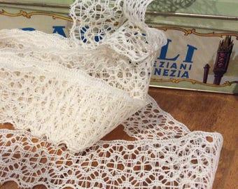 6 yards needle lace machine made DESTASH
