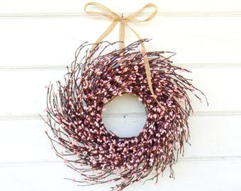 Valetines Day Wreath-MINI Twig Wreath-PINK Mini Window Wreath-Spring Wreath-Baby Nursery-Baby Gift-Its a Girl-Wreaths-Pink Bedroom Decor