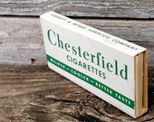 Vintage WWII Chesterfield K-Ration Cigarette Pack Rare White Package