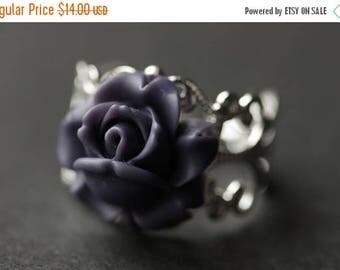 BACK to SCHOOL SALE Rose Ring. Purple Rosebud Ring. Dark Purple Flower Ring. Purple Ring. Handmade Ring. Rose Bud Ring. Purple Rose Ring. Ha