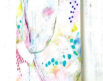 Abstract Art/ 12 x 24 inch canvas/ Unspeakable Joy/ Fullness of Joy Collection/ Wall Art/ Colorful Home Decor