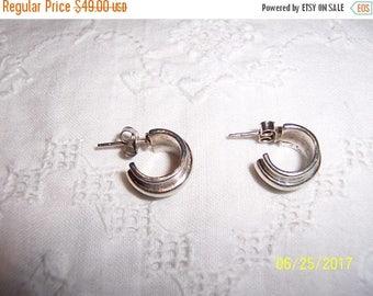TWICE A YEAR, 25% Off Vintage Hoop Earrings. Sterling silver.