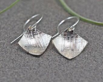 Cross Hatch Dangle Earrings
