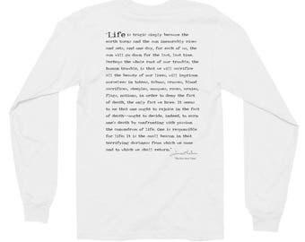 James Baldwin, The Fire Next Time Unisex Long Sleeve T-Shirt