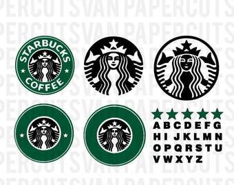 Starbucks SVG STARBUCKS Logo // Silhouette - Cameo - Cricut //  Clip Art, SVGs , Instant Download
