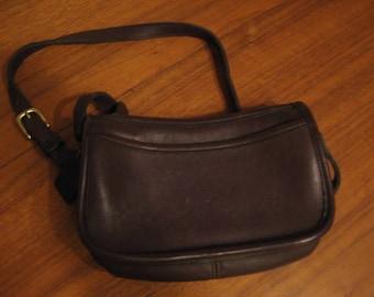 Vintage Dark Brown Coach Leather Wendie Crossbody Handbag 9031 FREE SHIPPING