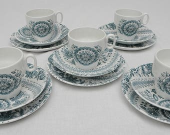 Offbeat by Barker Bros Five Cups, Saucers and Plates