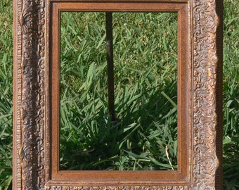 old antique 21 x 25 Vintage wood picture frame