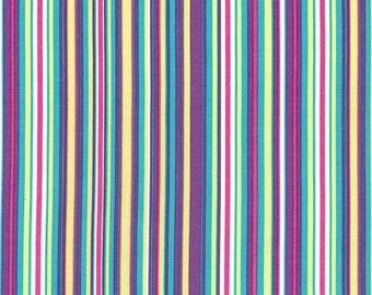 SHOP CLOSING SALE Fat Quarter fabric for quilt or craft Michael Miller Play Stripe in Malibu Fat Quarter