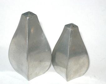 Rare Just Andersen Denmark Pewter Art Deco Salt Pepper Shaker Set S&P Pair