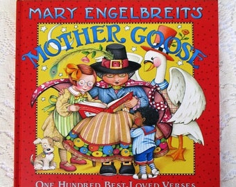 SALE 20% OFF Mary Engelbreit's MOTHER Goose~One Hundred Best Loved Verses, Soft back book like new