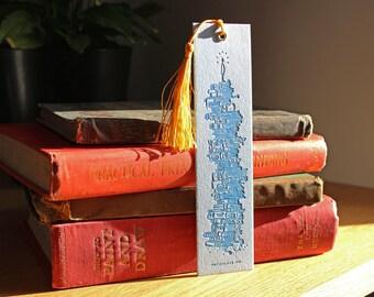 Letterpress Bookmark - Book Stack
