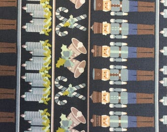 Fabric freedom Nutcraker Collection FF143 in Navy Col 2  by the half metre