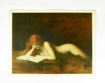 The Reader, Vintage Print, Jean-Jacques Henner, Roberto Hoesch Print