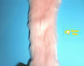 Baby Pink and Black kitten tail