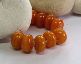 Honey Harvest, Lampwork Spacer Beads, SRA, UK