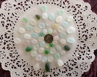 50 EGGS & Rollys FREE Shipping Genuine Sea Glass ERP-J20-52
