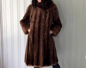 Beaver fur coat | Etsy