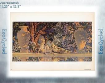 Maxfield Parrish Vintage Poster Garden of Allah neoclassical art print ready to frame print vintage art print Paper Ephemera Book Page z21
