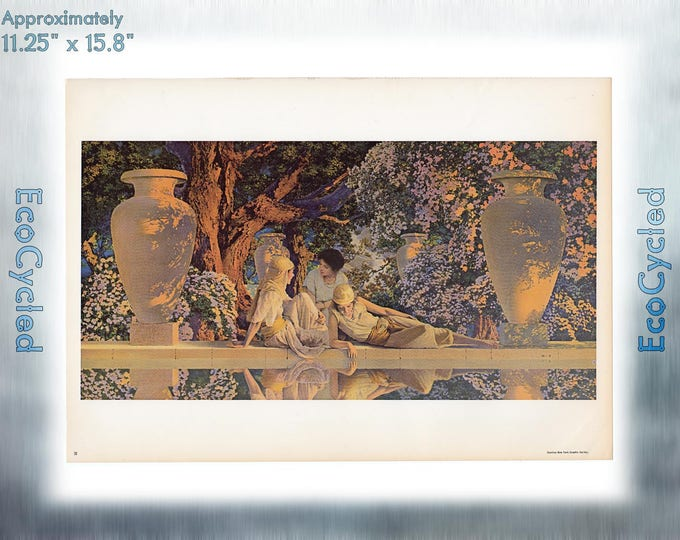 Maxfield Parrish Vintage Poster Garden of Allah neoclassical art print ready to frame print vintage art print Paper Ephemera Book Page z21