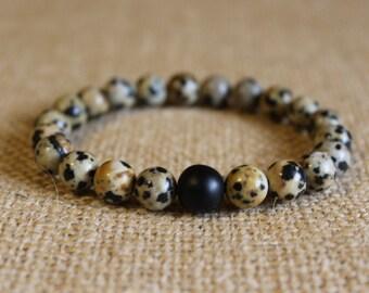 Men's Dalmatian Bracelet