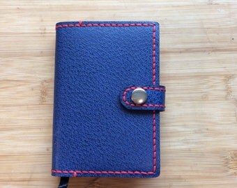 Handmade and reusable leather A7 Diary cover complete with Ryman 2017 page a day Diary
