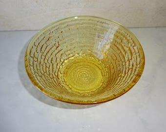 Vintage Soreno Honey Gold Small Bowl Anchor Hocking