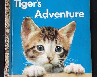 Vintage Tiger's Adventure Little Golden Book, B Edition, 1954