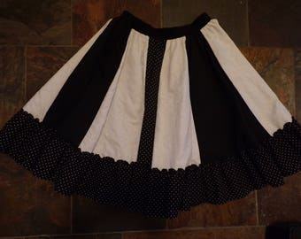 vintage MALCO MODES full circle SKIRT partners please patchwork dance M L (A9)