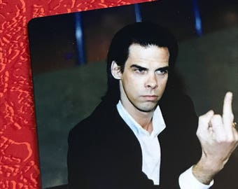 New NICK CAVE and & the Bad Seeds Middle FINGER Refrigerator Magnet cd vinyl 3""