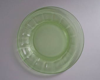 Bread and Butter Plate Colonial Fluted Rope Federal Glass Vintage