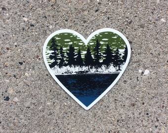Nature Vinyl Sticker-Outdoor Decal-Nature Decal-Lake Life Sticker-Lake Life Decal-Lake Life-Gift for Him