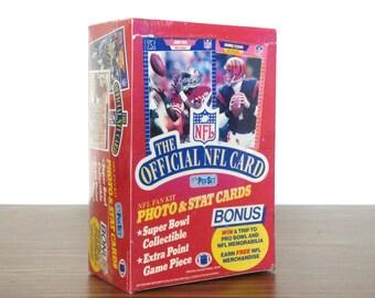 1989 1990 NFL Pro Set Unopened Box