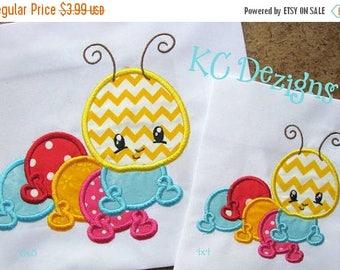 ON SALE Baby Bug Caterpillar Machine Applique Embroidery Design - 4x4, 5x7 & 6x8