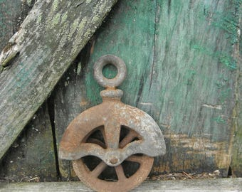 Small Industrial Cast Iron Pulley