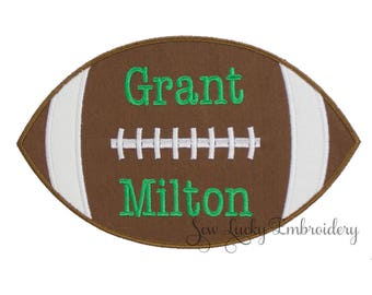 Football Personalized Applique Embroidered Patch , Sew or Iron on