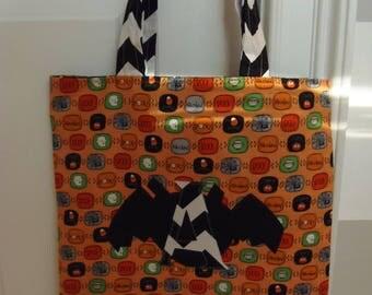 Halloween Trick or Treat Bag - Orange Small Design
