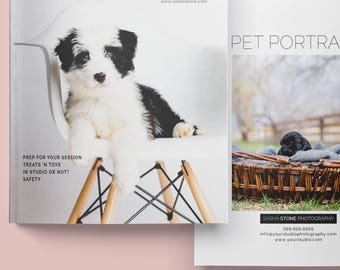 Pet Photography Welcome Guide, Photography Magazine Template, Photoshop Template Price Guide, Photography Marketing, PPWG100