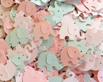 300 Pieces - Girl Elephant Baby Shower, Confetti Girl Elephant Baby Shower, Elephant Confetti, Pink and Gray Elephant Baby Shower, Confetti