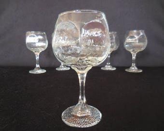 Libbey Clear Chivalry Wine Goblets